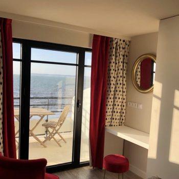 Cabines 105-205-Hôtel Le Paquebot-Villerville-vue mer-Normandie