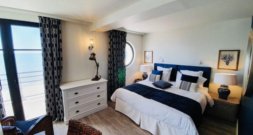 Le Paquebot resort-Cabins 101-201-sea-Villerville-Normandy