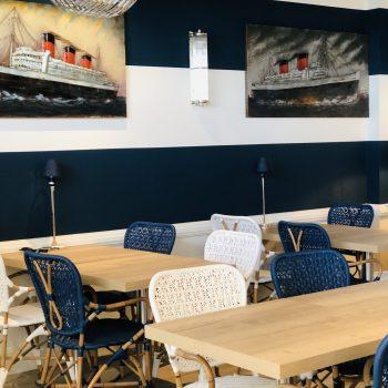 Hôtel-Le Paquebot-restaurant-bar-vue mer-Villerville-Deauville-Normandie
