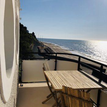 Hôtel face mer-Le Paquebot-Cabines 108-208-vue mer-Villerville-Deauville-Normandie