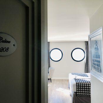 Hôtel Le Paquebot-Cabines 108-208-vue mer-Deauville-Villerville-Normandie