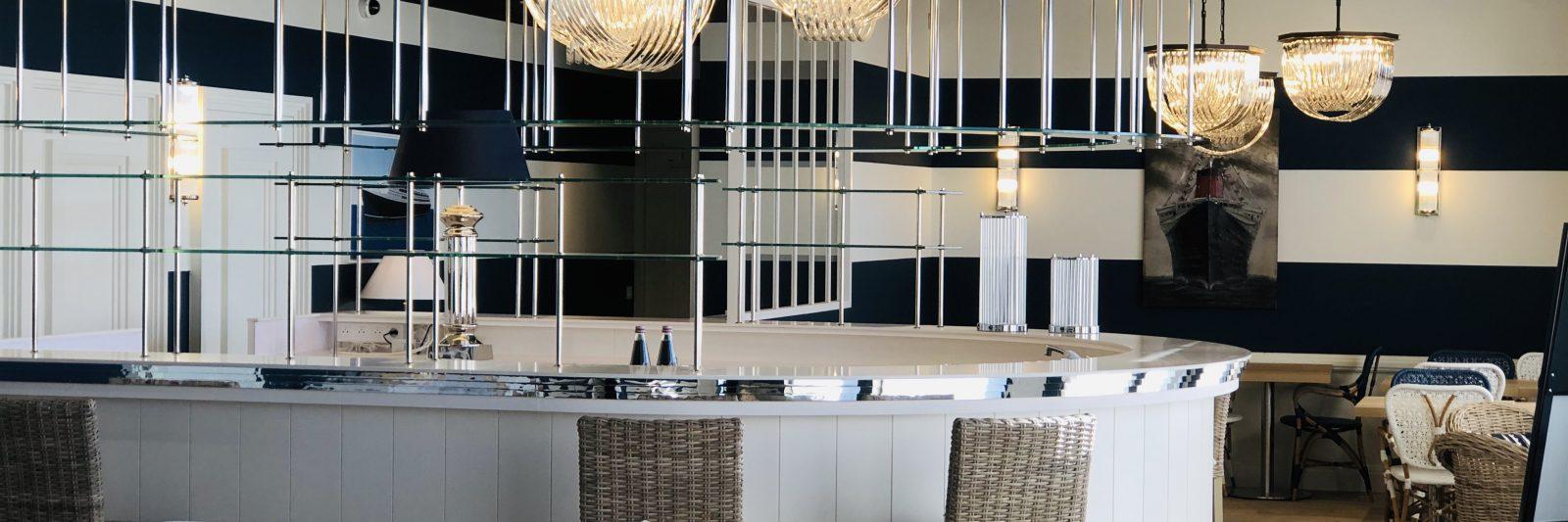 Hôtel vue mer-Le Paquebot-Salle de restaurant-Villerville-Deauville-Normandie
