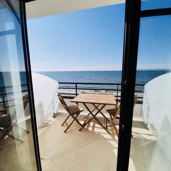 Cabines 104-204-vue mer-Hôtel Le Paquebot-Villerville-terrasse-Deauville-Normandie