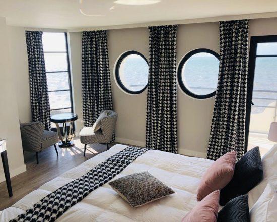 Hôtel Le Paquebot-Cabines 108-208-vue mer-Villerville-Normandie-Deauville