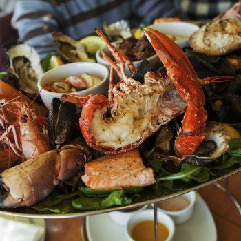 Fruits de mer-Restaurant-Hôtel Le Paquebot-Villerville-Deauville-face mer-Normandie