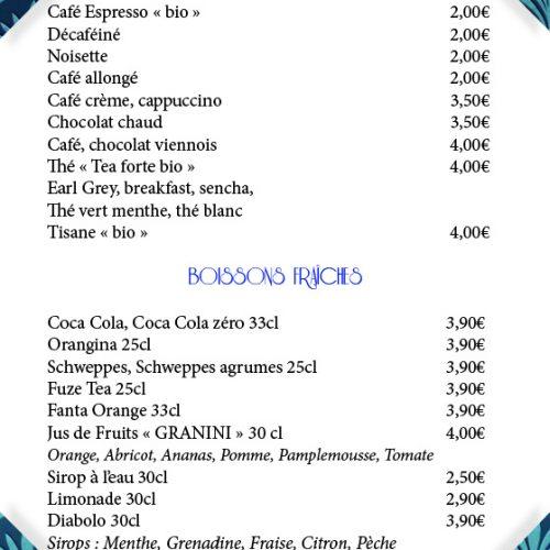 Carte-boissons-Le Paquebot